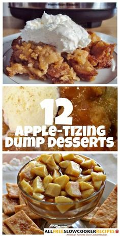 These dump desserts are perfect for fall! I love all sorts of apple recipes, so these are the treats for me! by olive