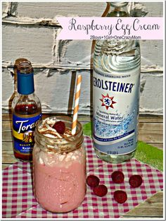 Make a Raspberry Egg Cream and think of a  #SummerGetaway @Carla Costephens Plus World Market #Recipe