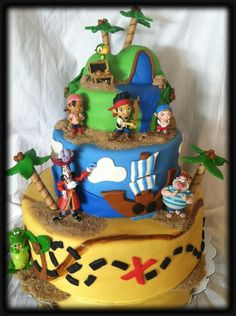 jake and the neverland cake images   Jake and th Neverland Pirates — Children's Birthday Cakes