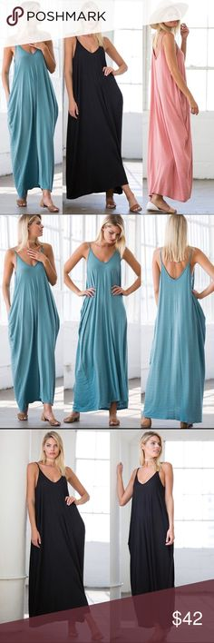 ☀️NEW☀️Gauze Spaghetti Strap Maxi Light and airy. Hidden side pockets. Rayon blend. As with all merchandise, seller not responsible for fit nor comfort. Brand new boutique retail w/o tag. No trades/off App transactions.  ❗️PRICE IS FIRM UNLESS BUNDLED❗️ Leoninus Dresses Maxi