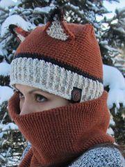 Crochet Fox Hat and Scarf Combo Boy Crochet Patterns, Crochet Fox, Crochet For Boys, Crochet Gifts, Crochet Stitches, Knitting Patterns, Crotchet, Fox Hat, Halloween Crochet