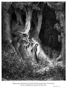 Dante Alighieri, Divine Comedy. Art by Gustave Doré.
