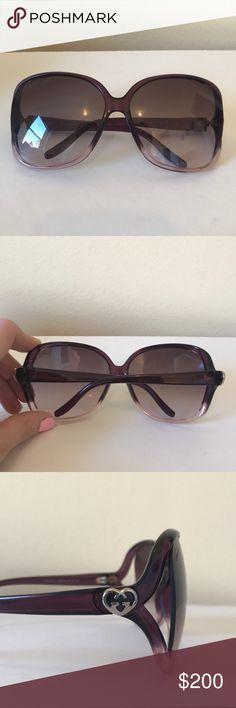 Gucci Sunglasses Gucci Sunglasses. REAL GUCCI. Purple gradient frames. Very pretty. Some wear, in great condition! Gucci Accessories Sunglasses