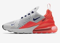 newest collection d4ec4 eaf14 Nike AIR MAX 270 Blanc Rouge solaire Noir Ultra marine