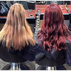 Beautiful before and after from Liza at Escape Salon Claremont.