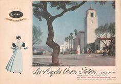 - Los Angeles Union Station Harvey House, California (closed in Judy Garland Movies, Harvey House, Harvey Girls, Spanish Revival, Union Station, Los Angeles California, Vintage Postcards, Tourism, Coast