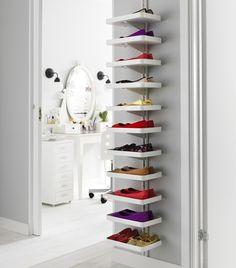 ALGOT systeem | #IKEA #DagRommel #schoenenkast #wandrail #wandrek #schoenen #kast