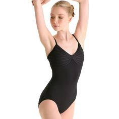 Knot Front Camisole Ballet Leotard This is like what Abigail Armstrong wore on the first episode of Dance academy