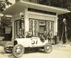 old gas stations photos | ... collection, vintage racecar transporters, more old gas stations