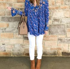 blog, blogger, style, fashion, tunic, floral, spring, ankle boots, white jeans, outfit, outfits, outfit ideas