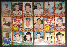 "1982 CRACKER JACK ""ALL-TIME BASEBALL GREATS"" COMPLETE TOPPS UNCUT SHEETS SET…"