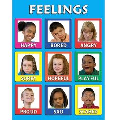 Young Children's Feelings Poster (Laminated) - childtherapytoys