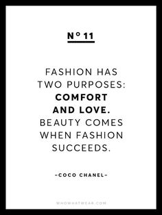 Fashion has two purposes: comfort and love. Beauty comes when fashion succeeds - Coco Chanel  | For more style inspiration visit 40plusstyle.com