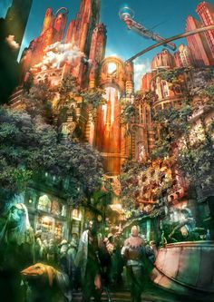 Final Fantasy XII: Archades Concept Art. Even though I played it on the PS2, I was blown away by the art in this game!