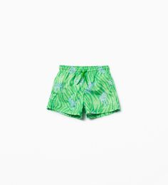 Image 1 of Zebra bermuda swim shorts from Zara