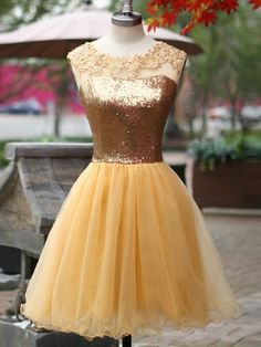 Sequin Prom Dresses, A-Line Prom Dresses, Yellow Homecoming Dress, Backless Prom Dresses, Sleeveless Prom Dresses Prom Dresses 2019 Yellow Homecoming Dresses, Mini Prom Dresses, Sequin Prom Dresses, Dresses Short, Backless Prom Dresses, Tulle Prom Dress, Dresses For Teens, Sexy Dresses, Dresses 2016