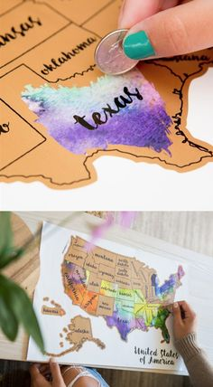 What a cute gift idea or home decor idea for the #travel enthusiast! This 12x18 scratch off map would be so fun to document where you've been! [ad] #Gift #map