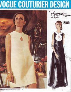 60s Vogue Couturier Design dress sewing pattern by Pertegaz, 2189, factory…