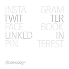 #henndesign #typography #socialmedia #graphicdesign #creative #designer #font #typeface #madeinvancouver #vancouver #vancity #henndesign @instagram @twitter @facebook @linkedin @pinterest #onlinemarketing #westerncanada #canada #westcoast #branding #marketing #yvr #style #design #illustrator #northamerica #canadian #online #app #socialmediaplatform #type #colour #simplicity #minimaldesign