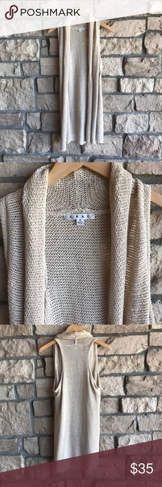 CAbi Long Sweater Vest Cardigan🔸 CAbi Long Sweater Vest Cardigan🔸. This was one of my friends sample pieces, never worn. Excellent new condition! CAbi Sweaters Cardigans