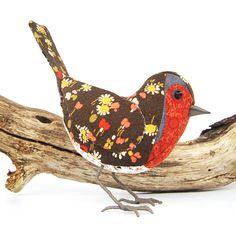 ROBIN - Cotton Fabric Bird - Made to Order £45.00
