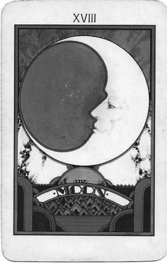 The Moon tarot card - my favorite