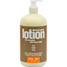 EO Products EveryOne Lotion Citrus and Mint - 32 fl oz - EO Essential Oil Products EveryOne Lotion Citrus and Mint Description: Everyone Lotion For Everyone and Every Body Face Hands Body An Ultra Moisturizing Lotion made with pure essential oils and herbal extracts to keep your skin soft and smooth. Citrus and Mint Gluten Free Non-GMO Made by EO with ingredients that are pure, natural and organic. Everyone Lotion nourishes faces, hands and every body. Free Of Gluten, non-GMO, animal…