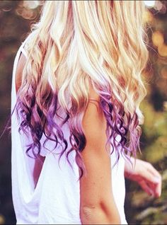 blonde and purple <3 it!!!.....if only I had the guts to do this for a day!