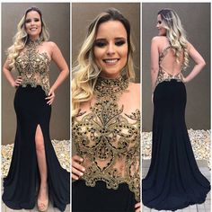 Two Pieces Halter Tulle Applique Evening Long Prom Dresses, Glam Dresses, Pretty Dresses, Beautiful Dresses, Dress Outfits, Formal Dresses, African Prom Dresses, Best Prom Dresses, Party Gowns, Party Dress
