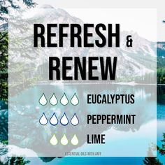 Refresh and renew with this diffuser blend! www.doterra.com/US/en/site/amydechene