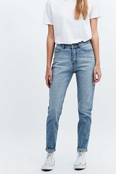Monday Donna Mid Blue Straight Leg Jeans