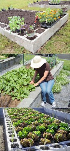 Organic Gardening 28 most amazing raised bed gardens, with different materials, heights, and many creative variations. Great tutorials and ideas on how to build raised beds ! A Piece of Rainbow Building A Raised Garden, Raised Garden Beds, Raised Beds, Diy Garden Bed, Raised Flower Beds, Raised Gardens, Vertical Gardens, Terrace Garden, Easy Garden