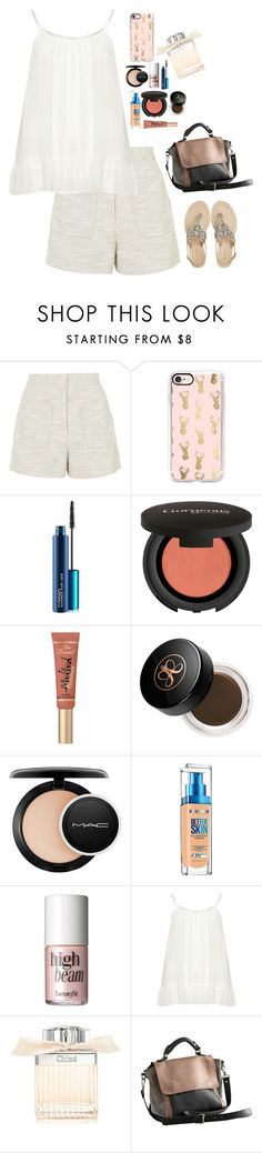 """Untitled #3262"" by veronicaptr ❤ liked on Polyvore featuring Topshop, Casetify, MAC Cosmetics, Gorgeous Cosmetics, Too Faced Cosmetics, Anastasia Beverly Hills, Maybelline, Benefit, Zizzi and Chloé"