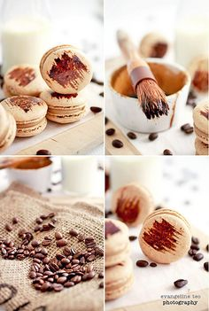 Coffee Macarons by *bossacafez (don't follow/fav if you have 0 photos, via Flickr