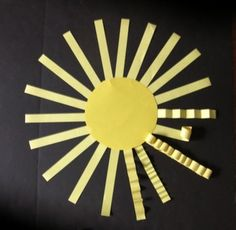 """SUNNY DAY - AN """"EASY-ART"""" CRAFTIVITY -  http://www.teacherspayteachers.com/Product/Back-to-School-Things-on-a-String-a-PATTERNED-easy-art-craftivity-1321494 PDF Lesson Plan Motivational questions To provide the elementary student with a fun classroom activity combining language arts and visual arts into the same creative experience. Easily adapted in difficulty.. The experience includes group discussion and interaction, development of writing skills, and a 3-dimensional craftivity."""