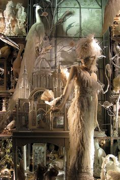#BergdorfGoodman's 2008 Holiday window display, Calendar Girls, featured a year-round journey with seasonal muses in ethereal white-on-white schemes.