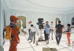 #Sixties   Stanley Kubrick on the set of  2001: A Space Odyssey, 1968