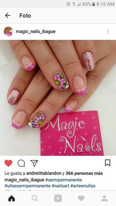 Purple Nails, Pink Purple, Mandala Nails, French Tip Nails, Pretty Hands, Cute Nail Designs, Nail Stamping, Manicure And Pedicure, Toe Nails