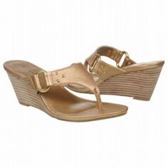 Bandolino Garbine Sandals (Gold) - Women's Sandals - M Gold Wedge Heels, Gold Wedges, Buy Now, Women's Sandals, Women's Shoes, Stuff To Buy, Fashion, Women Sandals, Wedges