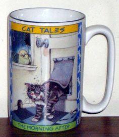 Gary Patterson Designed Coffee Mug .. I really like Gary Patterson cats !!!!