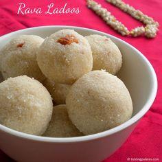 Rava Ladoos--(sweet cream of wheat balls)