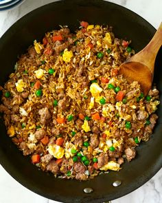 Tossed with ground pork, a couple eggs, and frozen vegetables, a pan of savory pork fried rice is one of the most satisfying and quickest meals to make with leftover rice. Quick Meals To Make, Food To Make, One Pot Dinners, Easy Dinners, Weeknight Dinners, Pork Cutlets, Frozen Vegetables, Veggies, Rice Dishes
