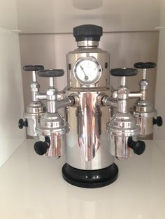 """""""FÉMOKA PARIS"""" 1950, for 4 cups - from my private collection , 4-gruppige Espressomaschine"""