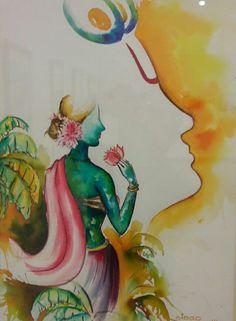 Indian modern art exhibitions 62 Ideas for 2019 Ganesha Painting, Ganesha Art, Krishna Art, Indian Art Paintings, Modern Art Paintings, Oil Paintings, Scratchboard Art, Art Inspiration Drawing, Drawing Ideas