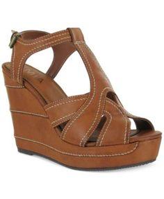 Mia Zeppelin Wedge Sandals   macys.com