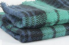 La douce chaleur d une écharpe tartan vert imprimé écossais. Maxi Echarpe,  Grosse 79c1e1f87c5