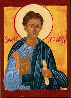 St. Thomas the Apostle. Is often wronged.  Whenever his name is heard  one tends to think of a skeptic, or a doubter. He is a doubting Thomas.   He is the Patron saint for all skeptics or doubters and grumblers and fault finders.