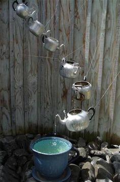 Rube Goldberg water feature
