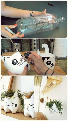 74 Ways to Reuse and Recycle Empty Plastic Bottles For Crafts Easy DIY . - trends - 74 Ways to Reuse and Recycle Empty Plastic Bottles For Crafts Easy DIY Plastic Bottle Proj - Kids Crafts, Arts And Crafts Projects, Diy Home Crafts, Easy Diy Crafts, Recycled Projects Kids, Garden Crafts, Garden Projects, Rock Crafts, Homemade Crafts