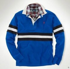 Men's Ralph Lauren Polo Blue Long Sleeve , shirts, t-shirts Polo Ralph Lauren, Ralph Lauren Style, Ralph Lauren Long Sleeve, Polo Blue, Long Sleeve Polo, Cool Things To Buy, Stripes, Mens Fashion, My Style